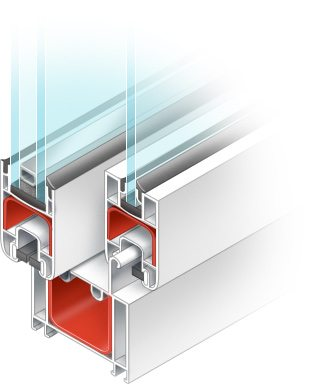 Алюминиевый профиль для холодного остекления