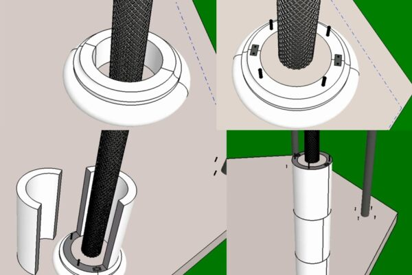 Армирование колонн и монтаж одноразовой опалубки