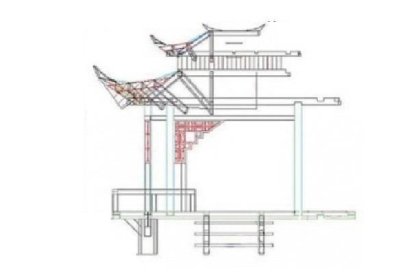 Чертёж, демонстрирующий принцип формирования верхней подвязки и кровельной конструкции