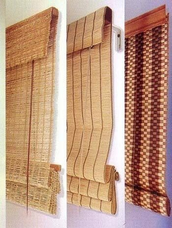 Декорирование в японском и китайском стиле предпочтительнее бамбуковыми жалюзи.