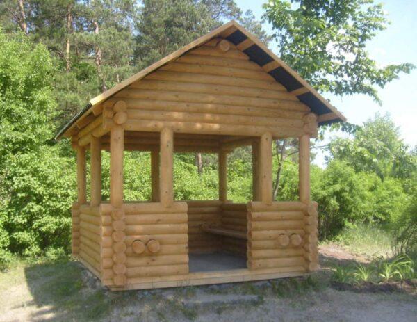Деревянный садовый домик