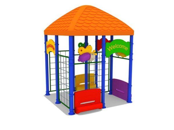Детская беседка для детского сада оборудованная лестницами