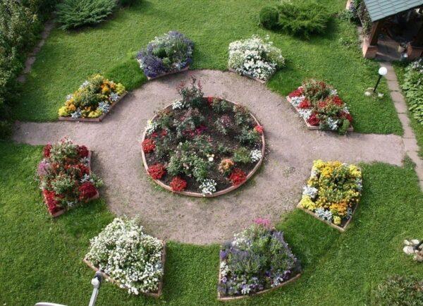 Клумбы на садовом участке