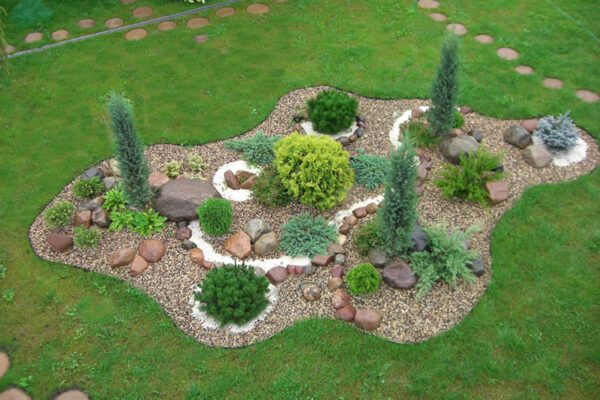 Рокарии в саду