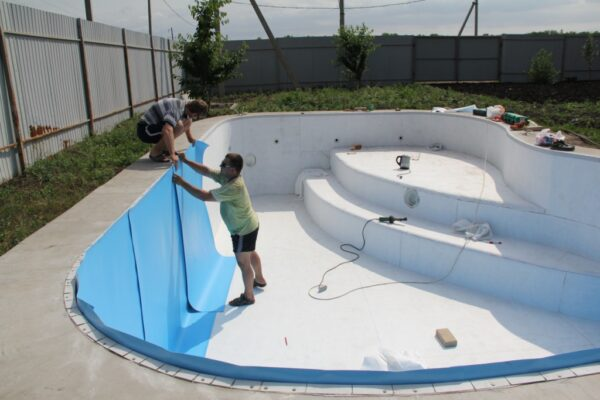 Облицовка бассейна своими руками