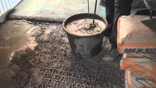 Заливка бетона на керамзитовую основу