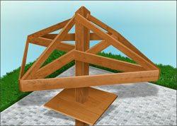 Графическое изображение структуры крыши «зонтика»