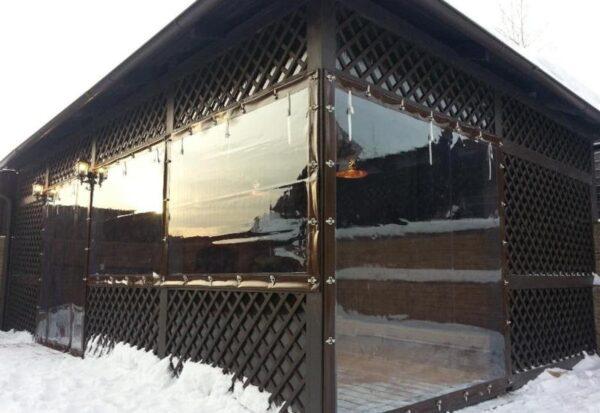 Хорошо натянутый материал практически неотличим от стекла, хорошо переносит как жару, так и морозы