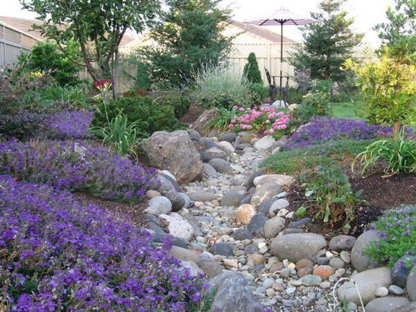 Берега можно засадить красивым цветами