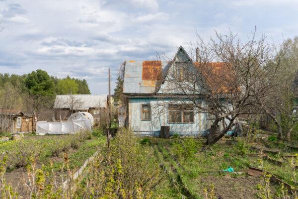 Типичный дачный домик с участком в СССР