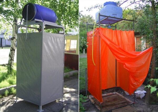 Летний душ из металлопрофиля