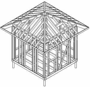 Инструкция «Как сделать садовую беседку» обязательно предусматривает точную проработку всех чертежей