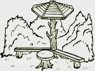 Использование древесного ствола