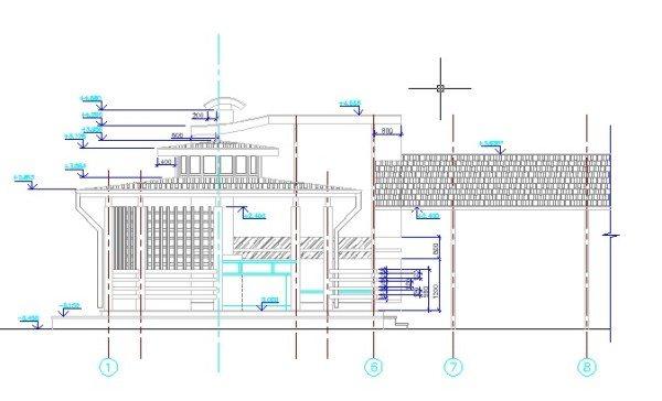 Изображен пример проекта металлической конструкции.