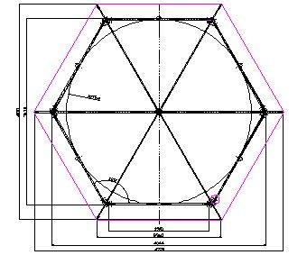 Как из круга сделать шестиугольник