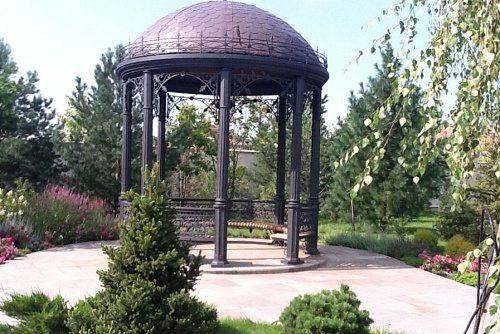 Конструкция с куполом, повторяющим очертания крон деревьев
