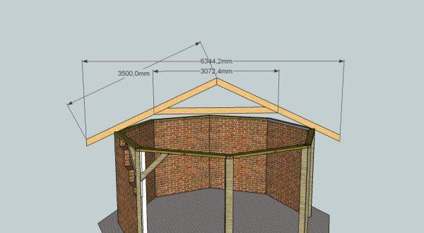 Конструкция стропил крыши показана на фото