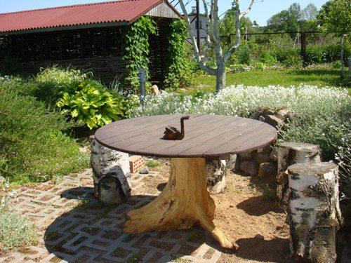 Круглый стол для дачи