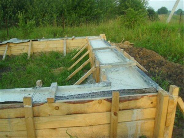 Ленточный фундамент под стационарную конструкцию из любого материала