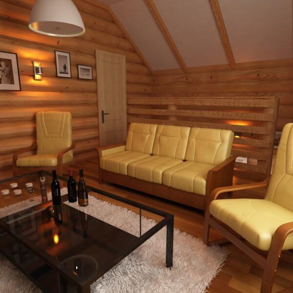 Мансардный этаж позволяет обустроить просторную гостевую комнату