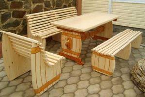 Мебель для беседки из древесины