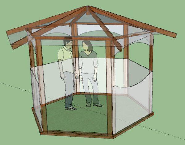 Модель постройки шестиугольной формы