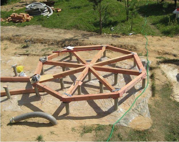 Монтаж ростверка на столбчатый фундамент