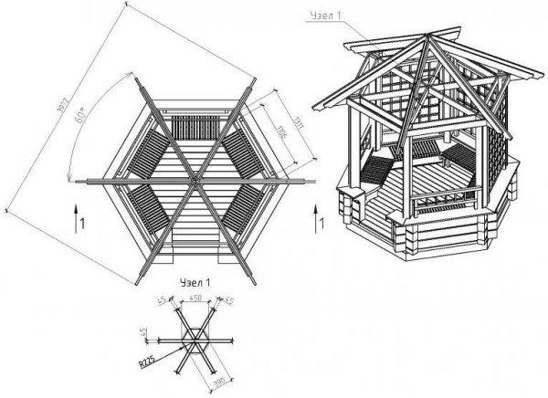 На фото - схема сооружения и общий вид