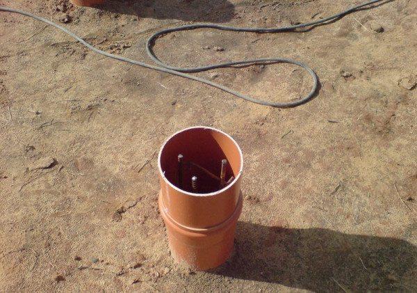 Опалубка для буронабивного столбчатого фундамента