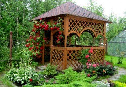 Озеленение конструкции: всегда ее приятный вид и хорошее настроение отдыхающих.