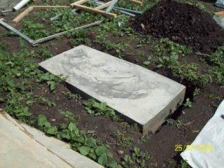 Плитный фундамент под барбекю