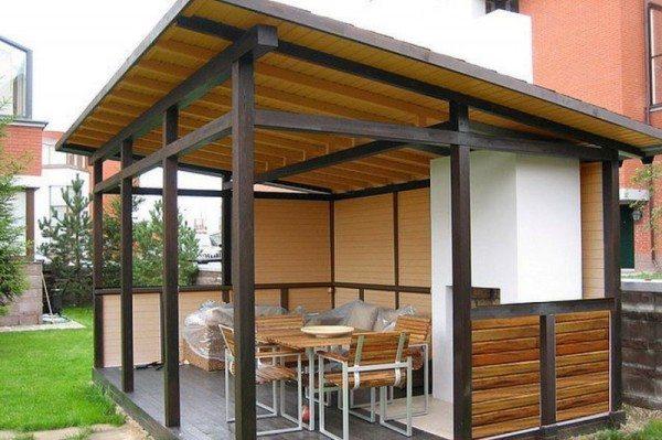 Постройка с односкатной конструкцией крыши