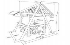 Пример чертежа сооружения из металла.