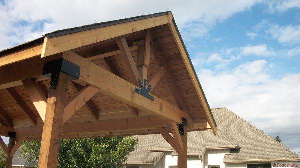 Пример готовой крыши, имеющей два ската