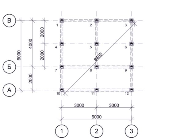 Пример проекта винтового фундамента