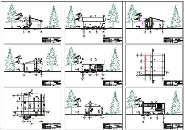 Примеры чертежей деревянных беседок.