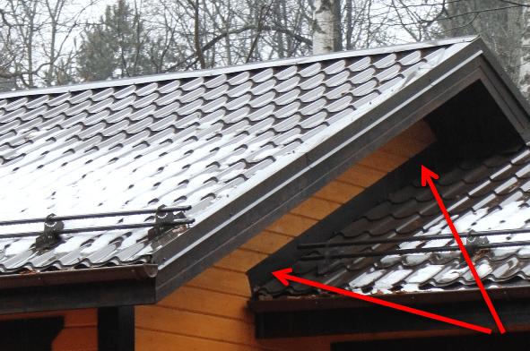 Примыкание крыши без разбора