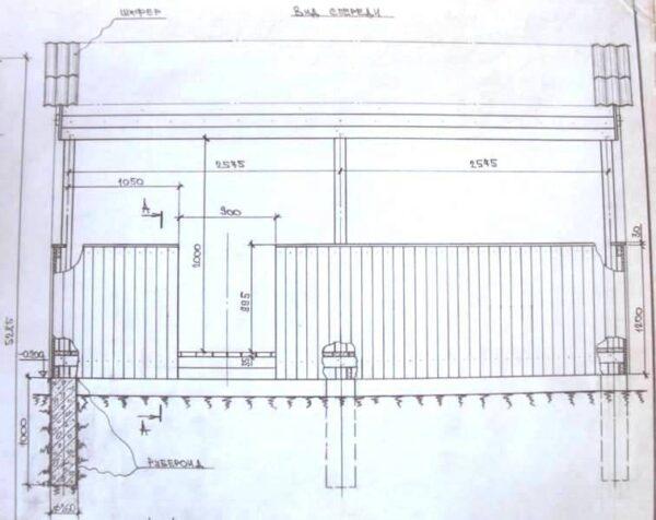 Проект деревянной беседки - своими руками выполненный: посмотрите на тщательную проработку фундамента и пола (рисунок «В»)