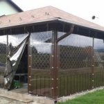 Прозрачные ПВХ шторы от ветра и дождя