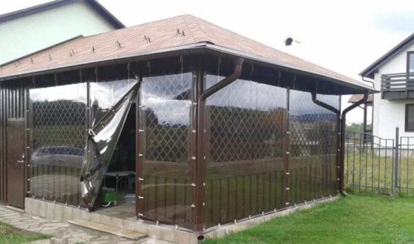 ПВХ пленка не ухудшает обзор и защищает от ветра