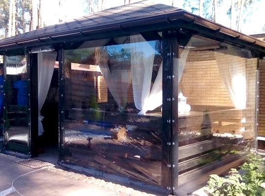 ПВХ шторы представляют собой прозрачную пленку