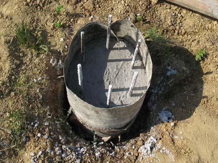 Самодельная бетонная свая из рубероида
