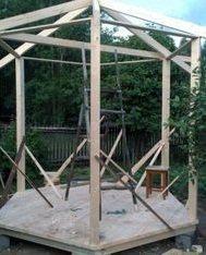 Сборка шестигранной крыши