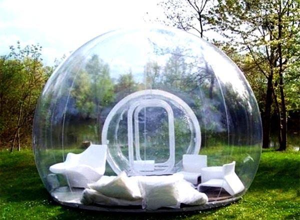 Шарообразная конструкция из стекла