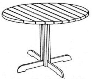 Схема переносного круглого стола