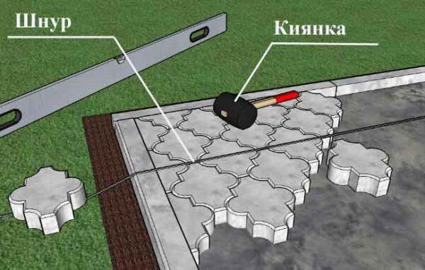 Схема укладки тротуарной плитки