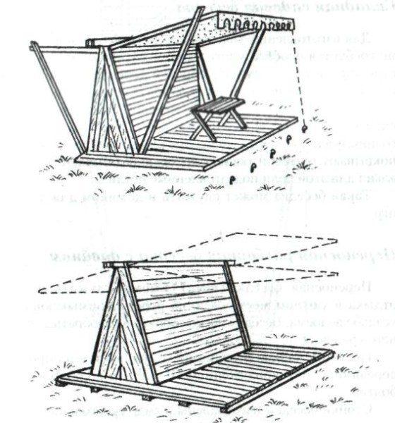 Схема установки деревянной беседки