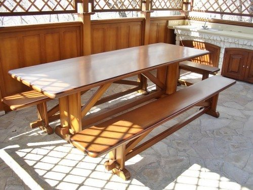Скамейки для прямоугольного стола