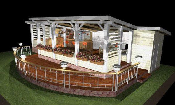 Трехмерная модель сооружения в прованской стилистике