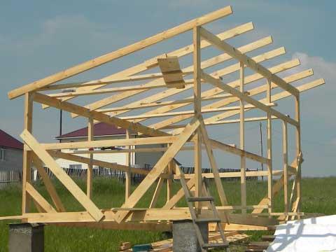 Упрощённый вариант односкатной крыши